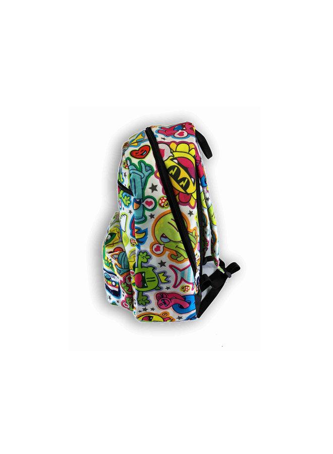 Golden305 Backpack White Pattern