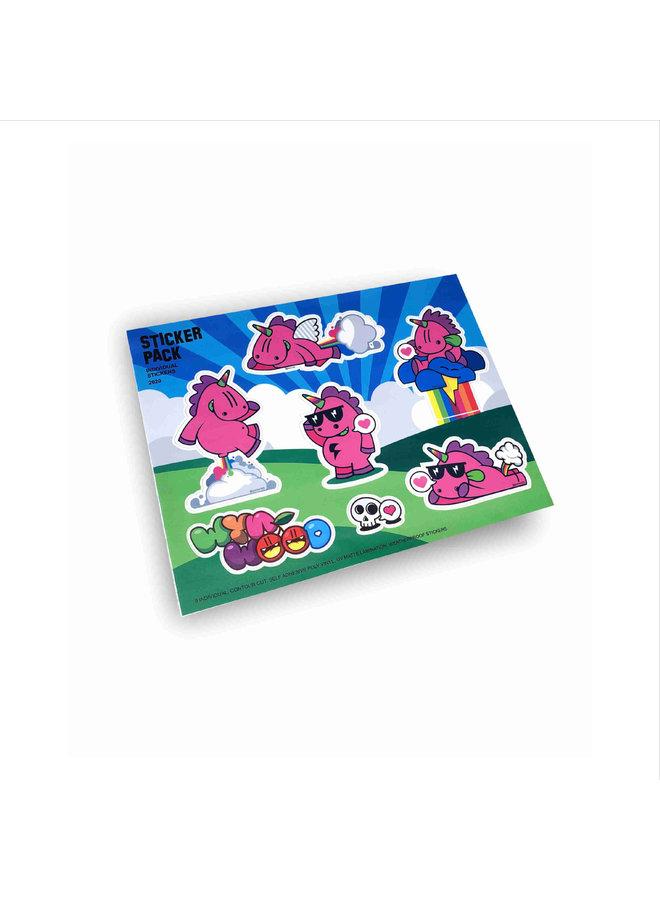 Unicorn Sticker Sheet Golden305