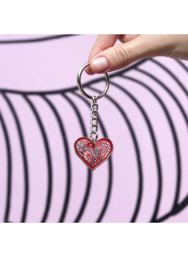 Kelsey Montague Keychain Heart