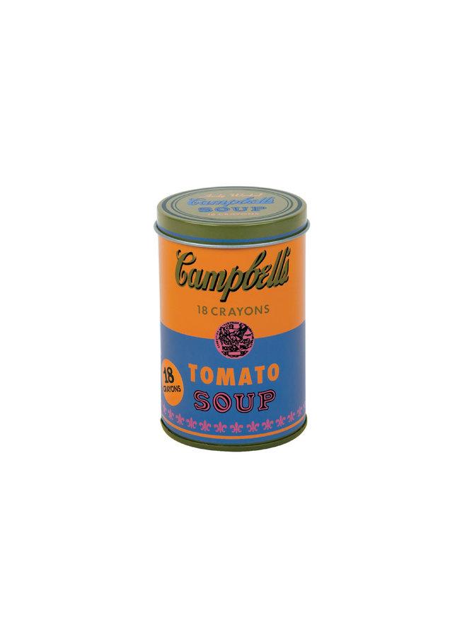 Andy Warhol Soup Can Crayons Orange