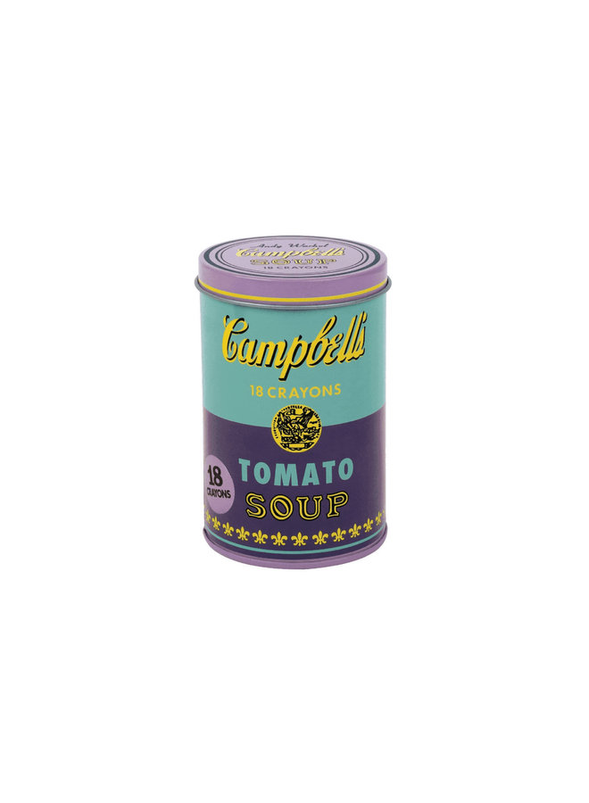 Andy Warhol Purple Soup Can Crayons