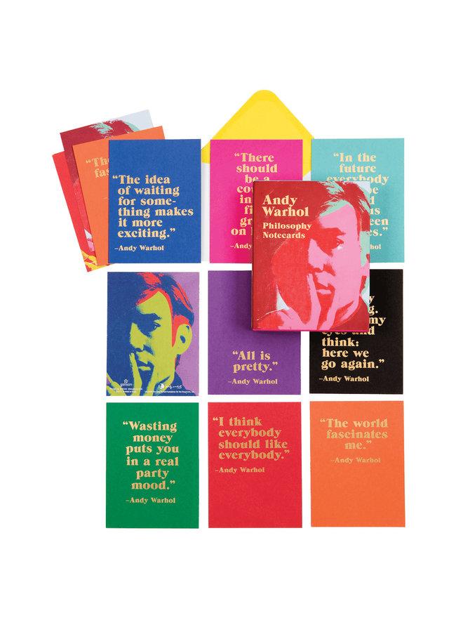 Greet Assort Notecards Andy Warhol Philosophy
