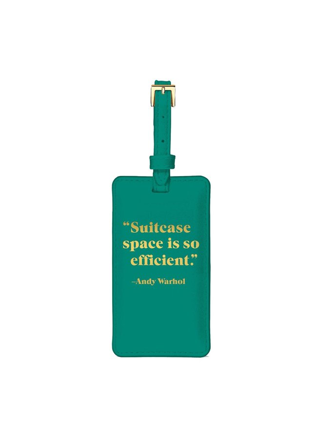 Luggage Tag Andy Warhol Quotation
