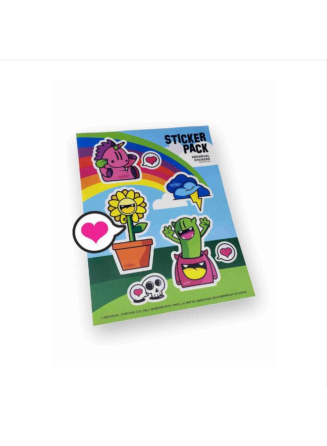 Mixed  Sticker Sheet Golden305