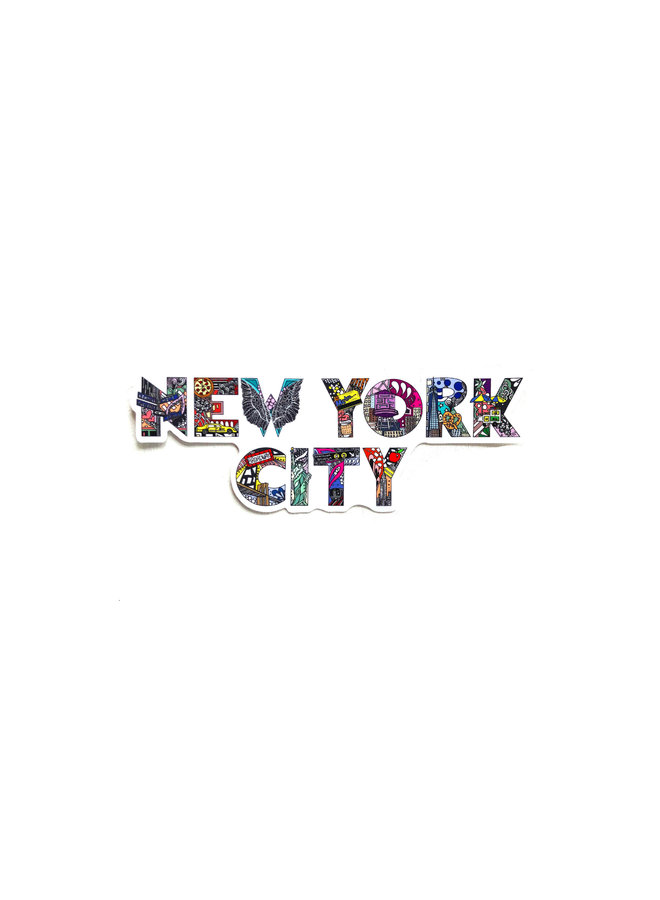 Kelsey Montague City Sticker NYC