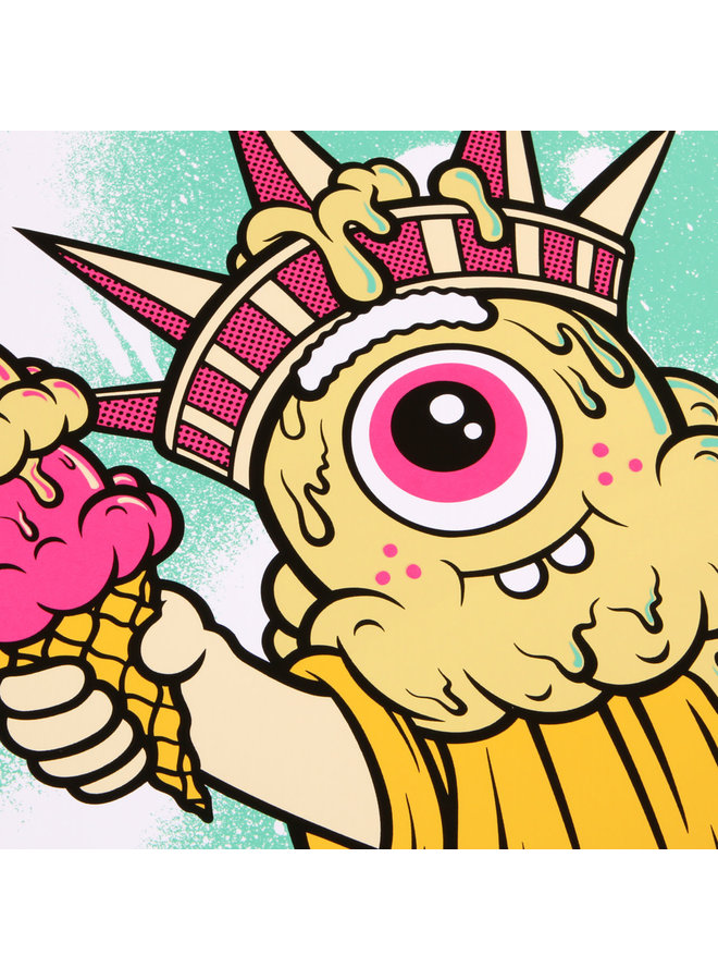 Buff Monster Liberty Silkscreen Print