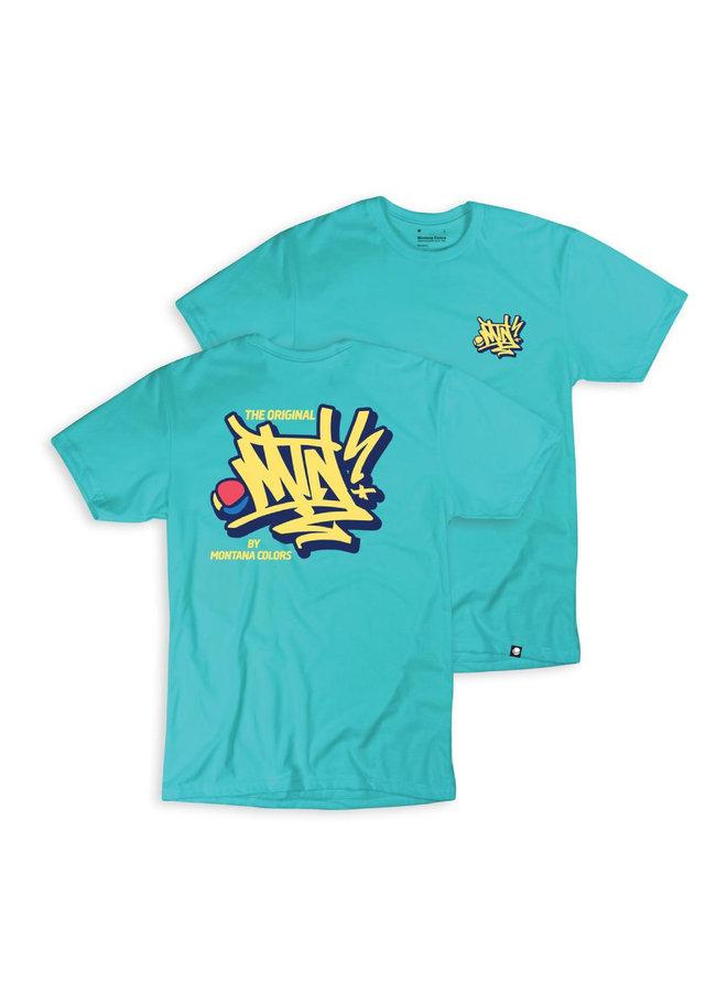 MTN Handstyle Tee - Tahiti Blue