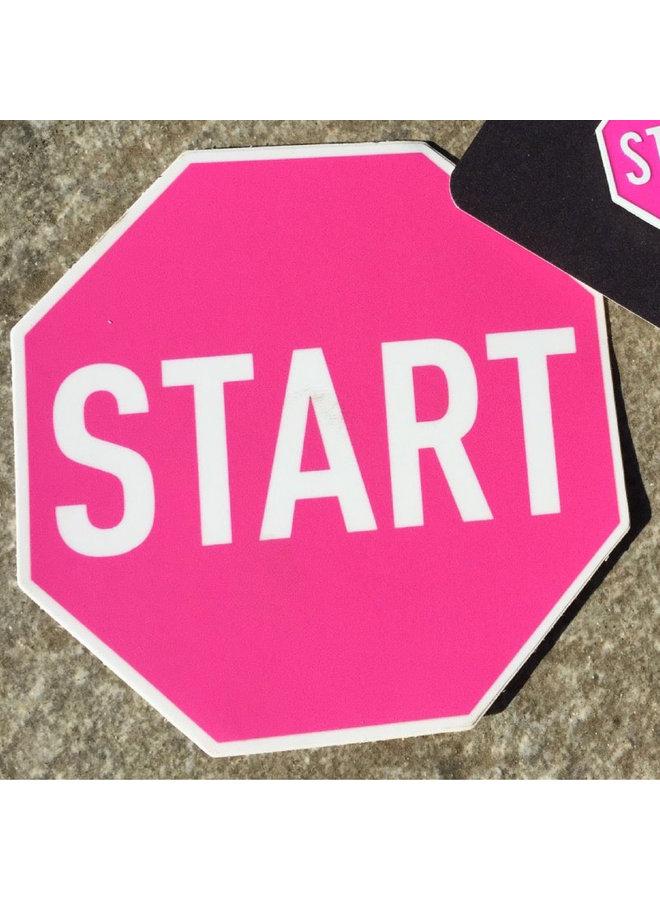 Scott Froschauer Pink Start  Sticker
