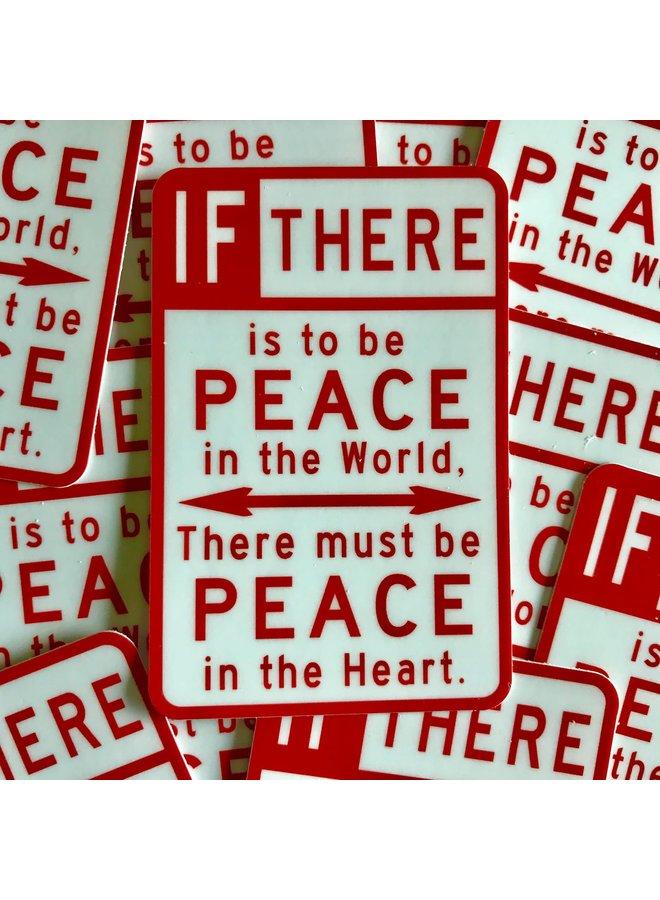 Scott Froschauer Peace Sign  Sticker