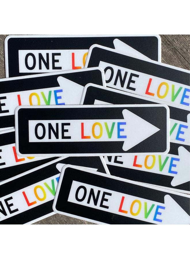 Scott Froschauer One Love  Sticker