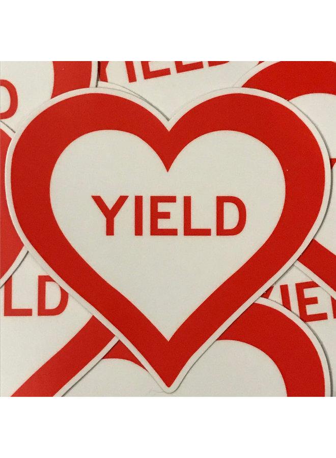 Scott Froschauer Yield Heart Sticker