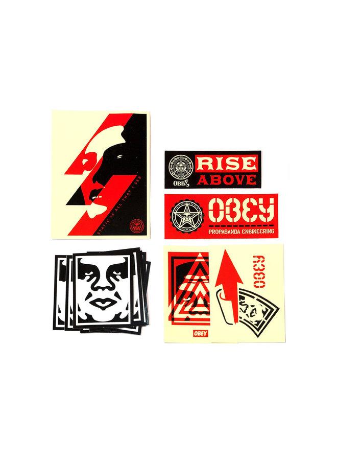 Shepard Fairey Obey Sticker Pack I