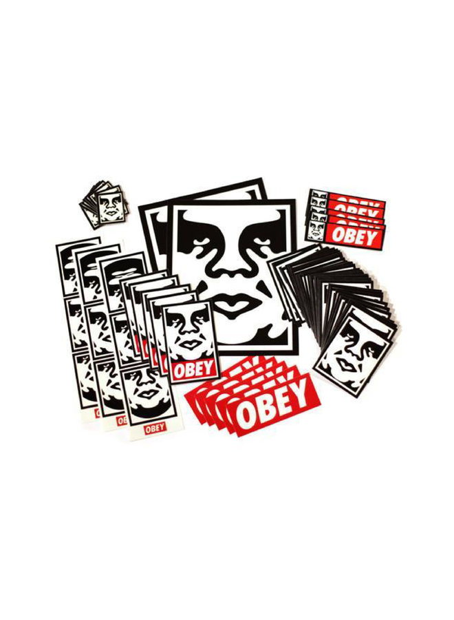 Shepard Fairey STREET BOMBER Sticker Pack