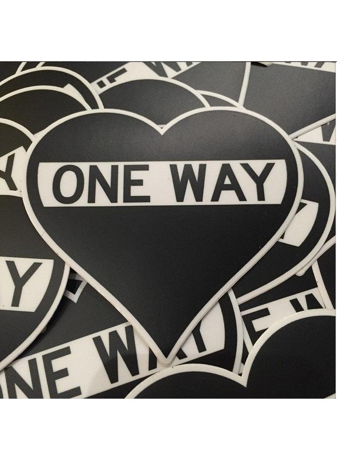 Scott Froschauer One Way Heart Sticker