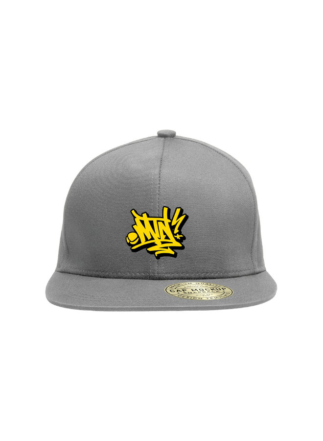MTN Handstyle Snapback Hat -  Charcoal