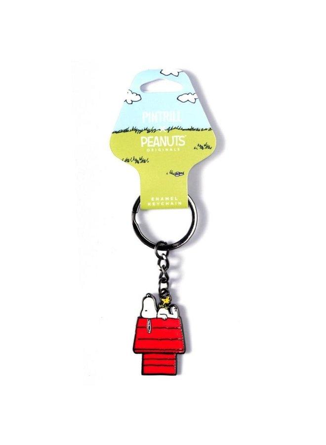 Peanuts - Snoopy & Woodstock House Keychain