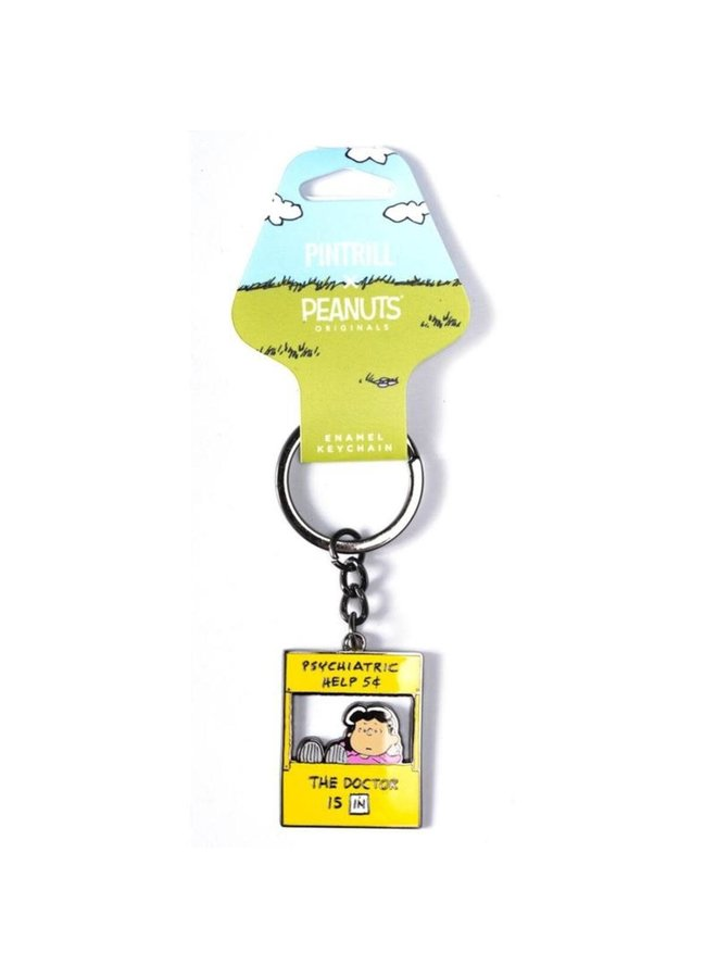 Peanuts - Lucy Psychiatry Booth Keychain