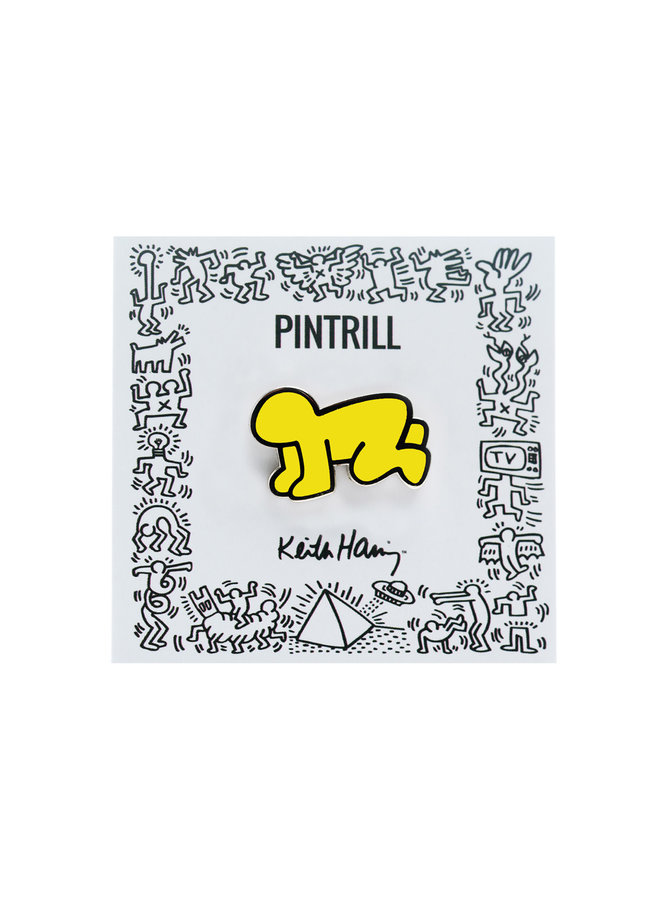 Keith Haring - Radiant Baby Pin - Yellow