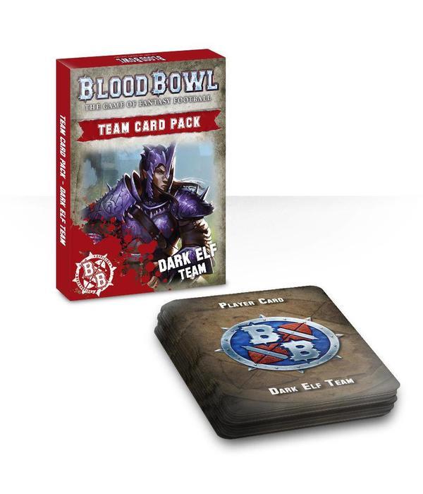 BLOOD BOWL DARK ELF TEAM CARDS DHC