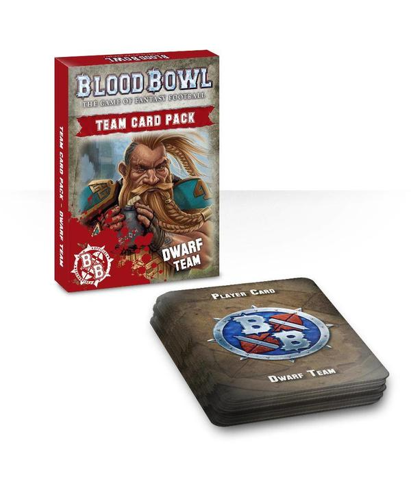 BLOOD BOWL DWARF TEAM CARDS DHC
