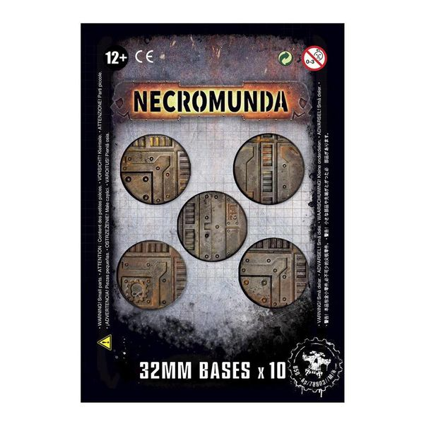 NECROMUNDA 32MM BASES DHC