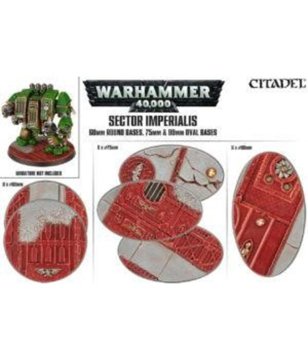 SECTOR IMPERIALIS 60MM RD+75/90MM OVAL BASES