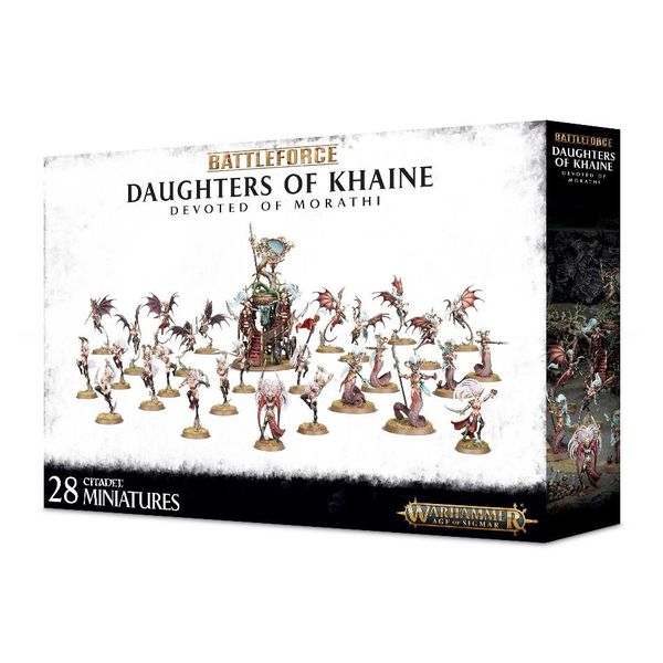 DAUGHTERS OF KHAINE DEVOTED OF MORATHI BATTLEFORCE ($2 Additional Shipping Applies) SPECIAL ORDER