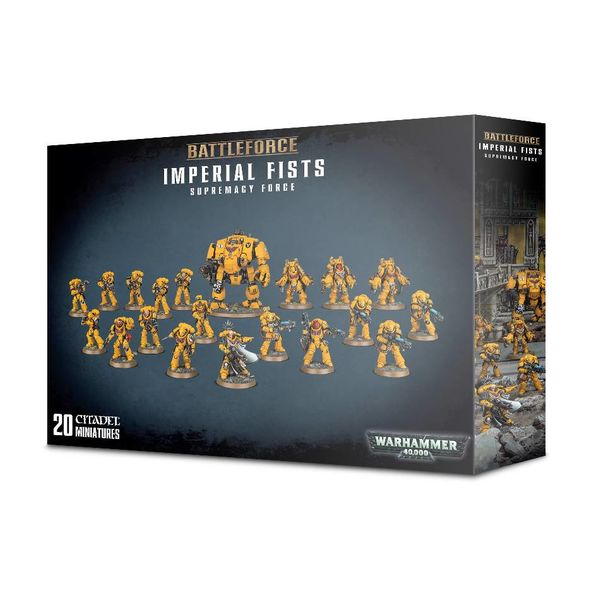 SPACE MARINE IMPERIAL FISTS SUPREMACY FORCE BATTLEFORCE ($2 Additional Shipping Applies) SPECIAL ORDER