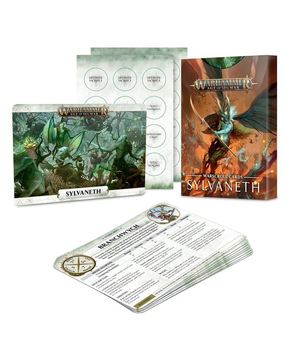 WARSCROLL CARDS SYLVANETH 2019
