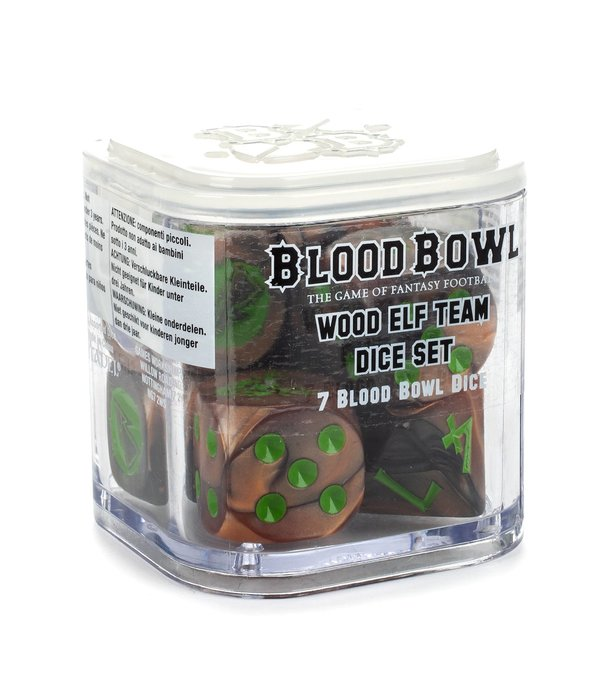 BLOOD BOWL WOOD ELF TEAM DICE SET