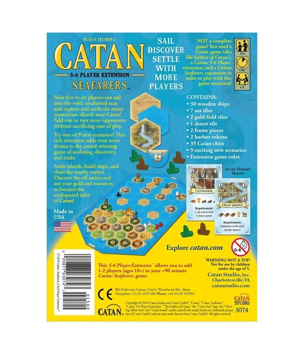 CATAN SEAFARERS 5 AND 6 PLAYER EXPANSION