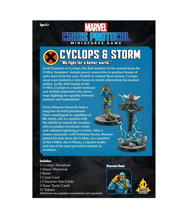Marvel Crisis Protocol Storm and Cyclops