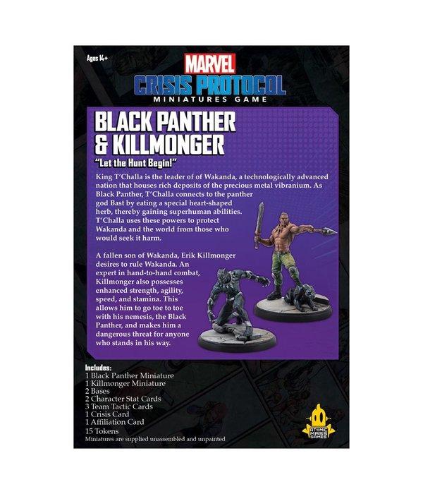Marvel Crisis Protocol Black Panther and Killmonger