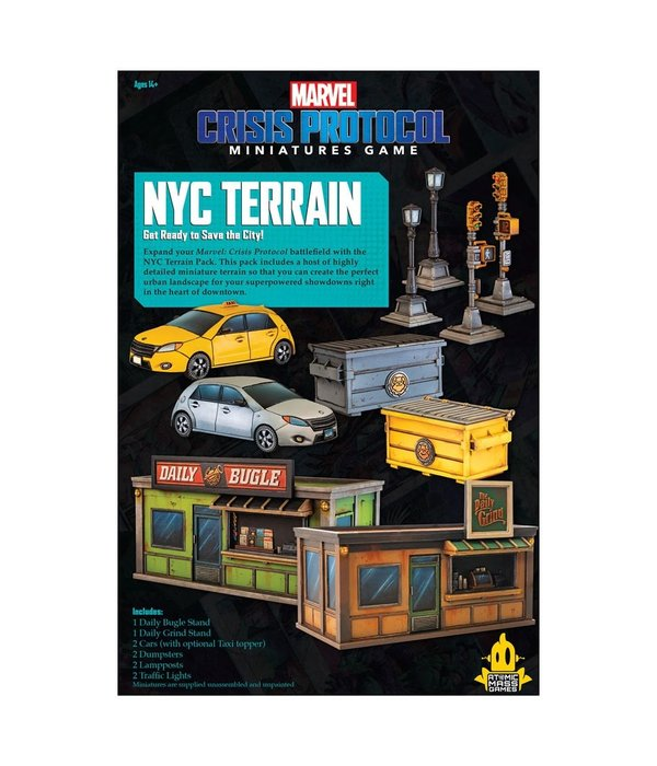 Marvel Crisis Protocol NYC Terrain Pack Expansion