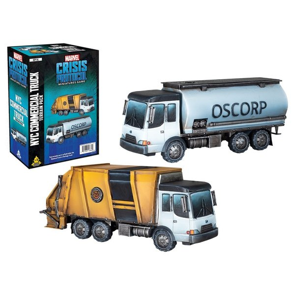 Marvel Crisis Protocol NYC Commercial Truck Terrain Pack