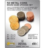 50 Metal Coins Board Game Upgrade Set