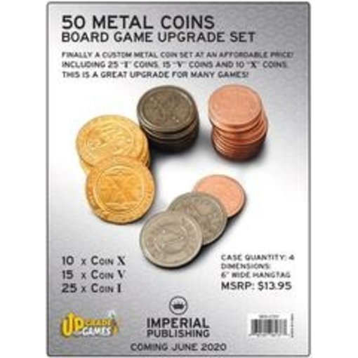 50 Metal Coins Board Game Upgrade Set