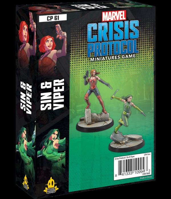 Marvel Crisis Protocol Sin and Viper