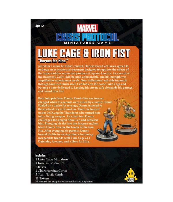 Marvel Crisis Protocol Luke Cage and Iron Fist Pack