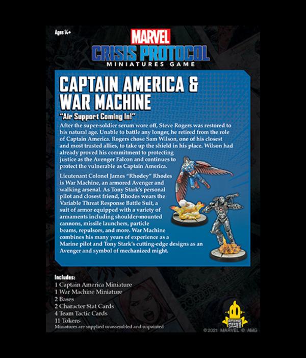 Marvel Crisis Protocol Captain America and War Machine