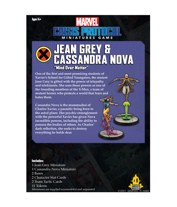 Marvel Crisis Protocol Jean Grey and Cassandra Nova