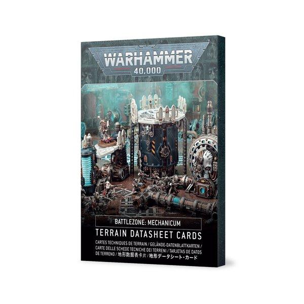 WARHAMMER 40K BATTLEZONE MECHANICUM TERRAIN DATASHEET CARDS