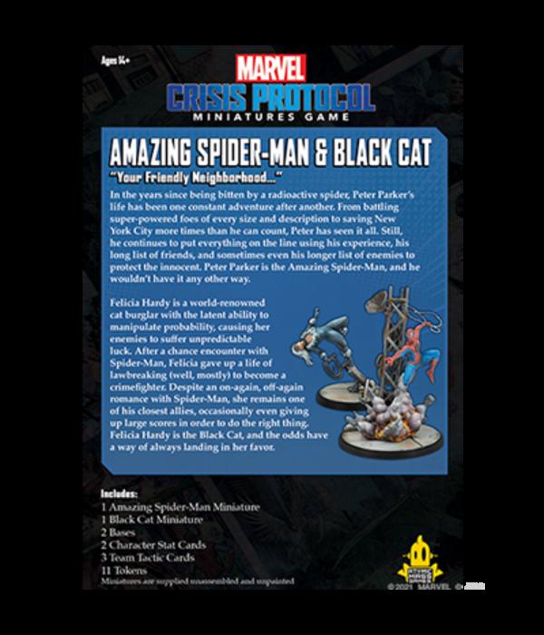 MARVEL CRISIS PROTOCOL  AMAZING SPIDER-MAN AND BLACK CAT