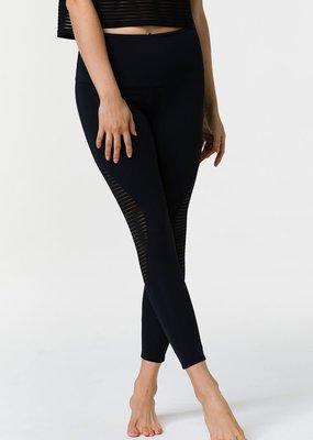 Onzie Onzie Shape Black Stripe Mesh Midi Legging