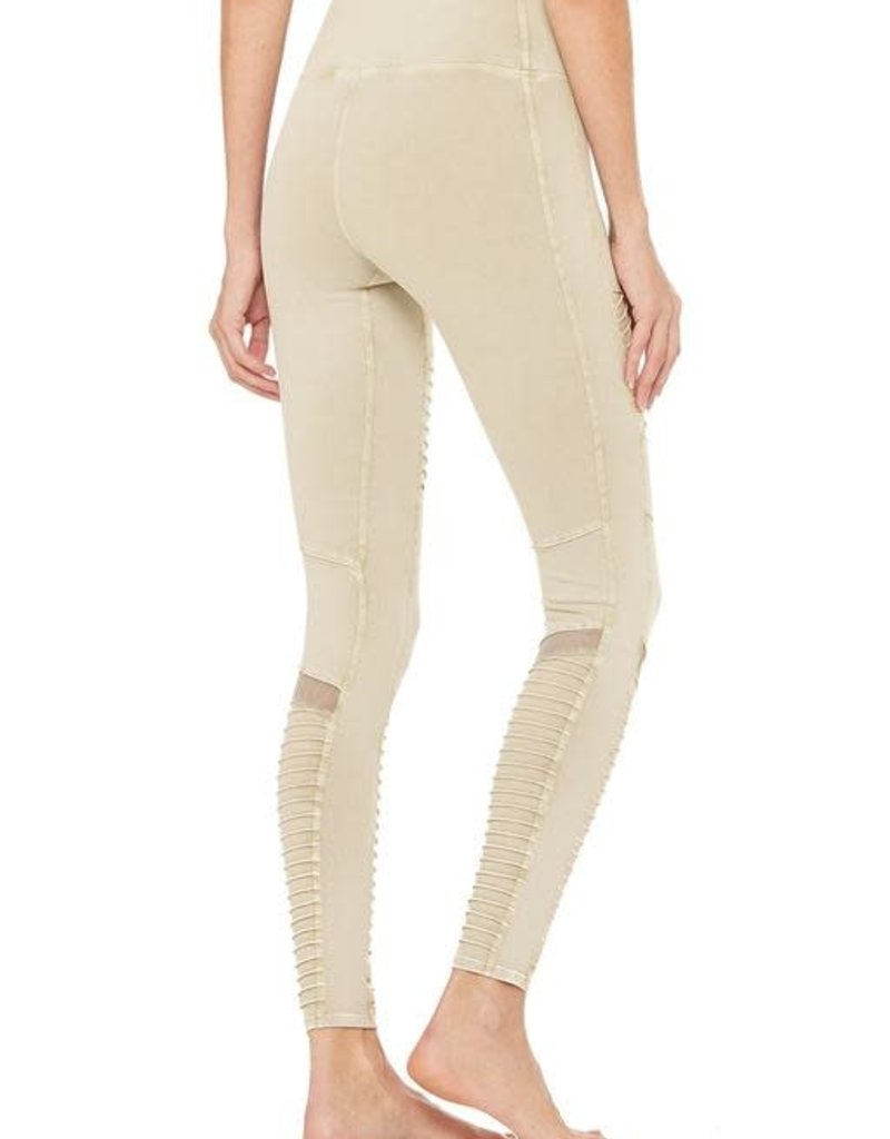 Alo Alo HW Washed Moto Legging