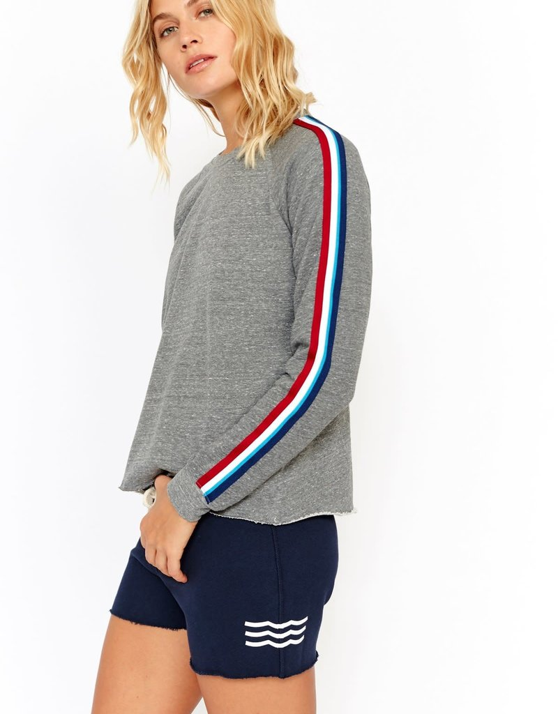 Sol Angeles Sol Angeles Sol Flag Stripe Cropped Pullover