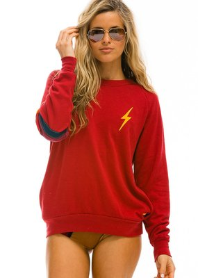 Aviator Nation Aviator Nation Bolt Stitch Stripe Crew Sweatshirt