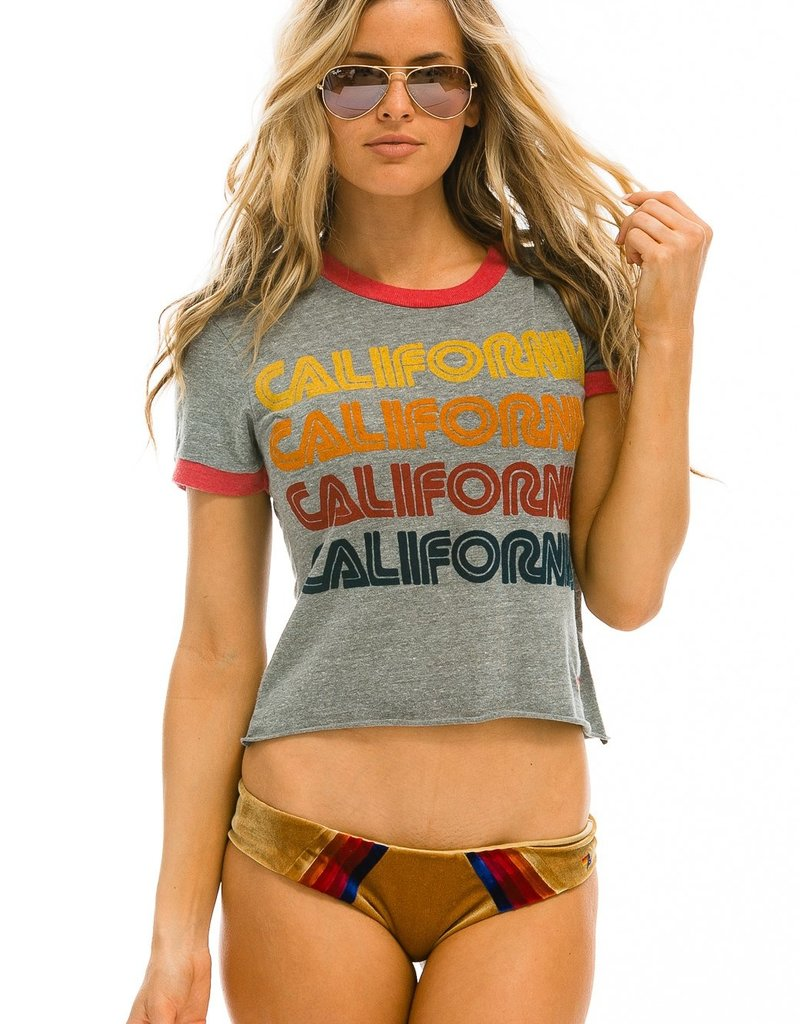 Aviator Nation Aviator Nation California Repeat Boyfriend Ringer Tee