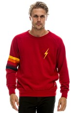 Aviator Nation Aviator Nation Bolt Stitch Stripe Crew Sweatshirt