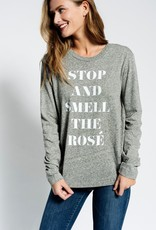Sol Angeles Sol Angeles Smell the Rosé Long Sleeve Crew